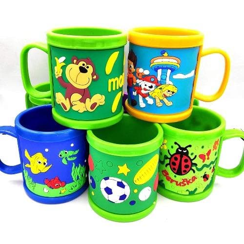 Rainbow Colored Cup for Kids (Pack of 6)