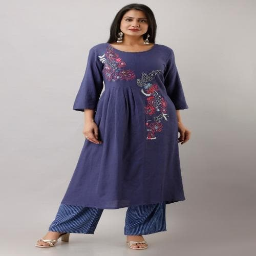 HEAVY EMBROIDERY KURTA WITH PALAZZO SET