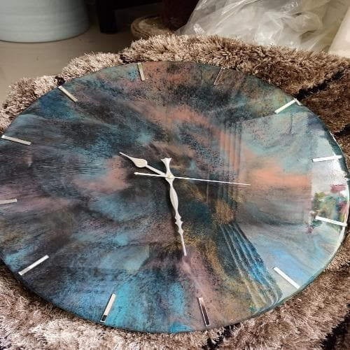 Wall Clock Resin Handcrafted