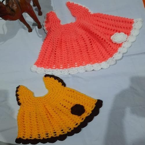 Elegant Hand Knitted Cute Baby dresses