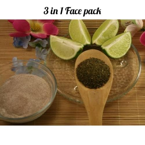3 in 1 Face Pack for Pimples, Dark spots & Pores
