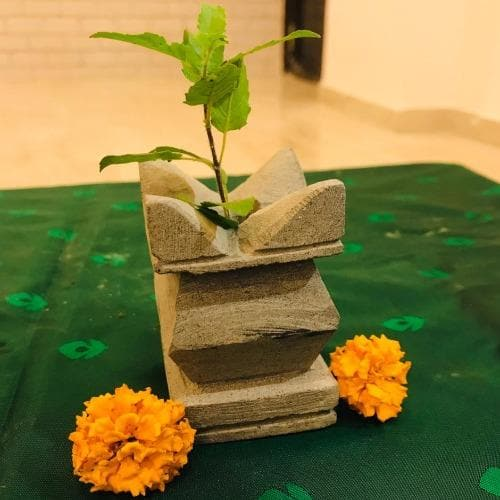 Traditional Miniature Tulsi Pot