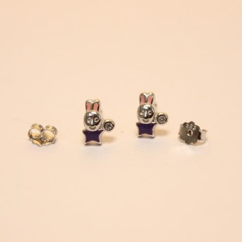 Trendy Moon shaped studs