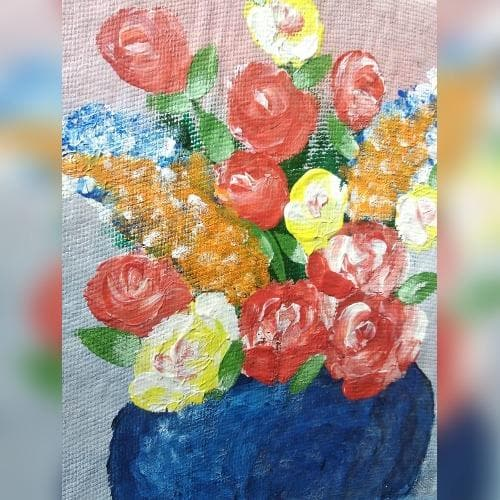 Painting - Finger Painting On Canvas