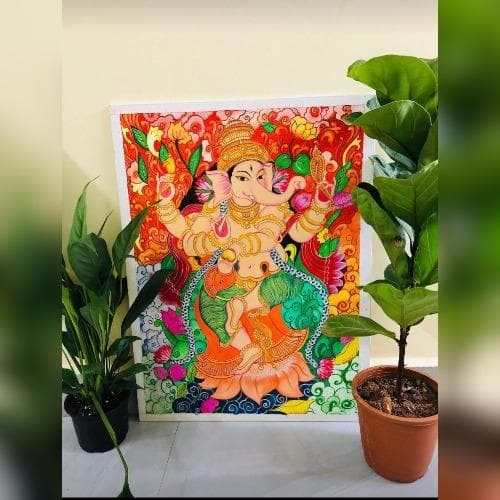 Painting - Kerela Mural on Canvas