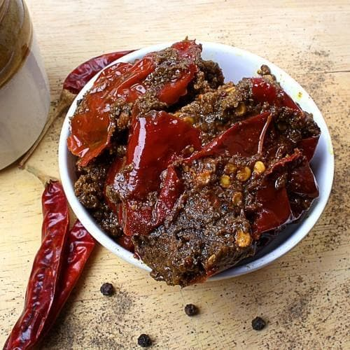 Stuffed Red Chilly Pickle