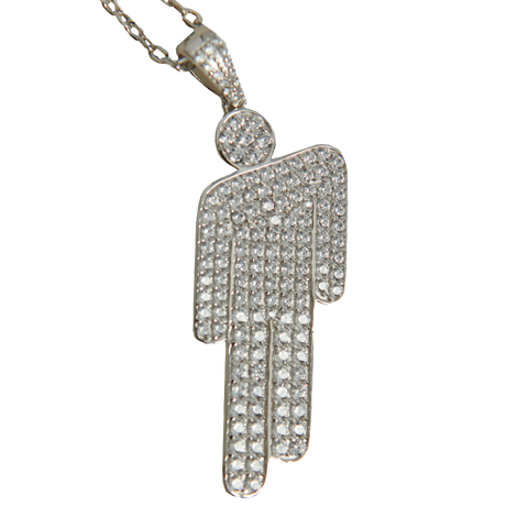 Blohsh Pendant Jewelled Sterling Silver Necklace