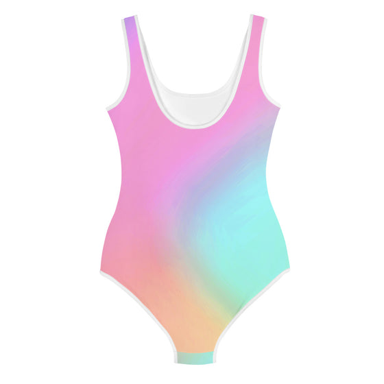 Tween Girls Holographic Print 1-Pc Swimsuit