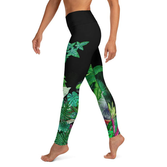 Women Swim Leggings, Surf SUP 'Hawaii Gardens' Leggings