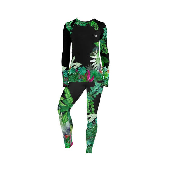 Women's Long Sleeve Rash Guard -Hawaiian Gardens
