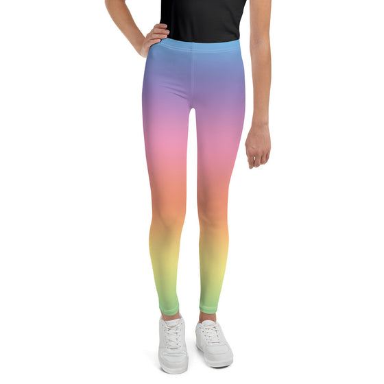 Pastel Rainbow Unicorn Leggings for Girls, Tween, Juniors (8-20)