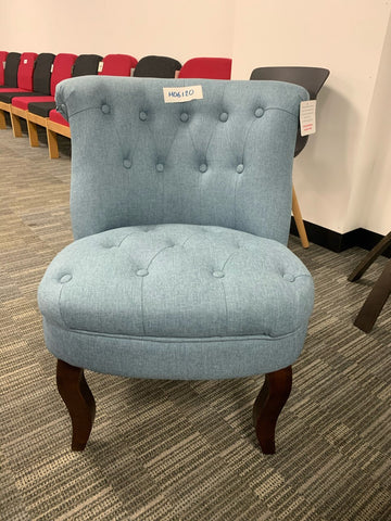 Light blue detailed chair