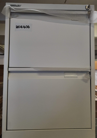 White 2 drawer filing cabinet
