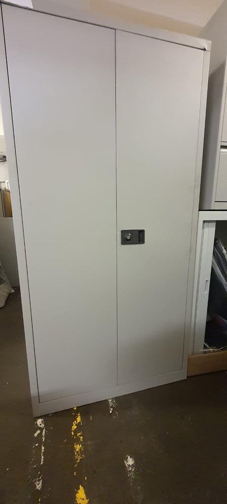 Grey Steel Double Door Cupboard 1790mm - Clearance Office Furniture