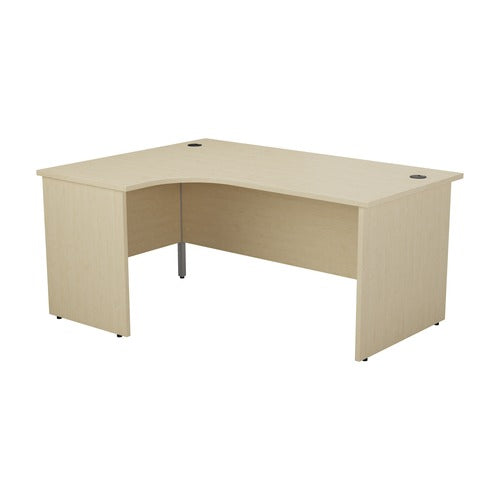 1800 x 1200 Radial Desk with Panel end legs