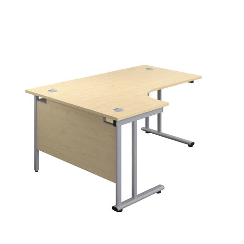 1800 x 1200 Radial Desk with twin upright Cantilever legs