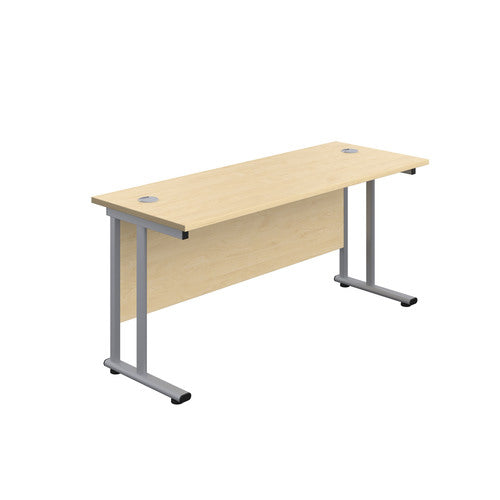 1600 x 600 Straight Desk with Cantilever Legs