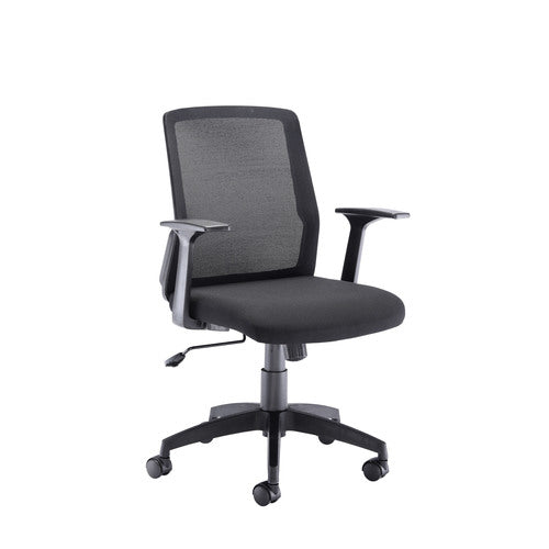 Denali Mid Back Chair - Black Mesh - Clearance Office Furniture