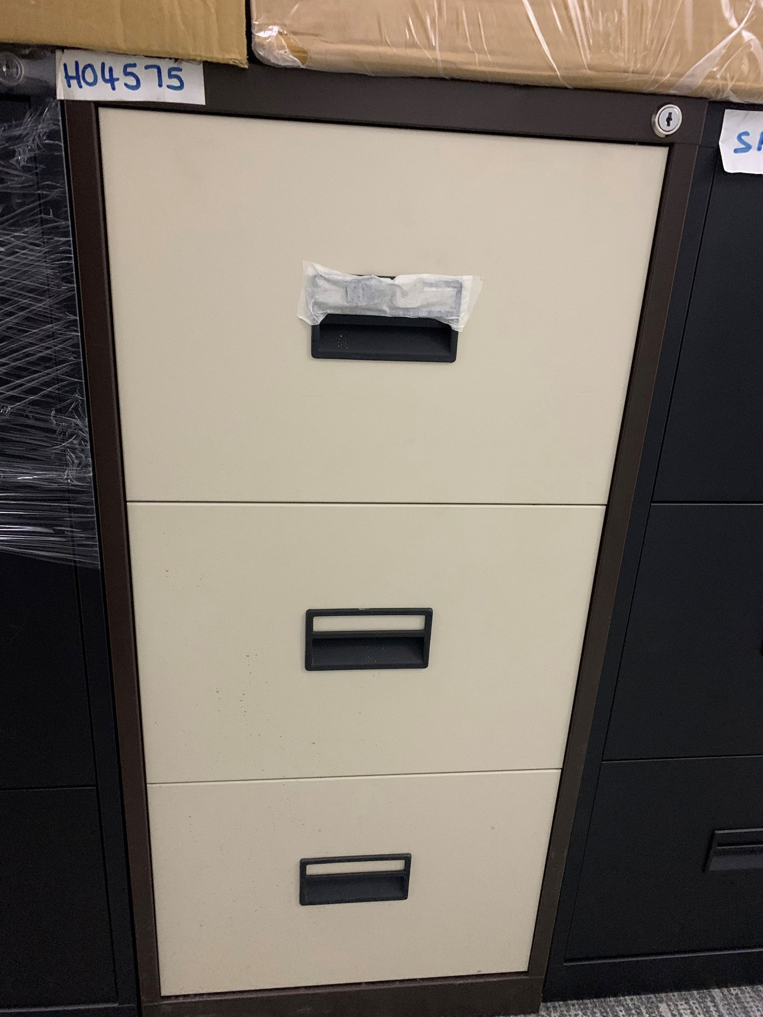 Coffee and Cream 3 Drawer Filing Cabinet