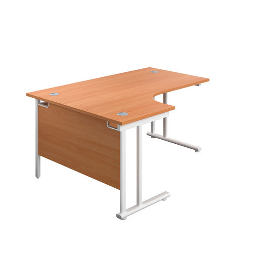 Twin Upright Left Hand Radial Desk