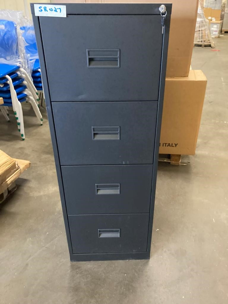 Black 4 Drawer Filing Cabinet