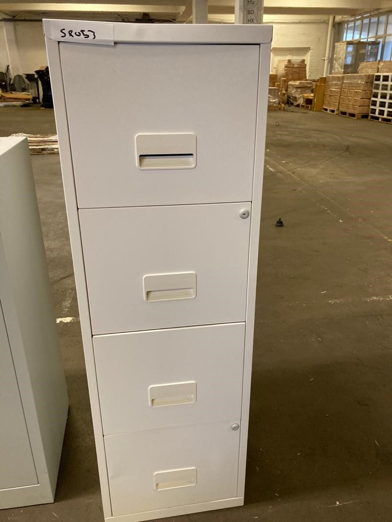 White 4 Drawer Filing Cabinet
