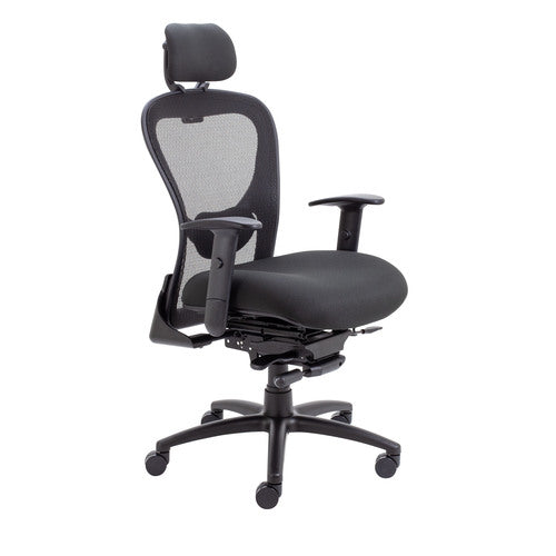 Strata HB Mesh Back Task Chair Black With Seat Slide