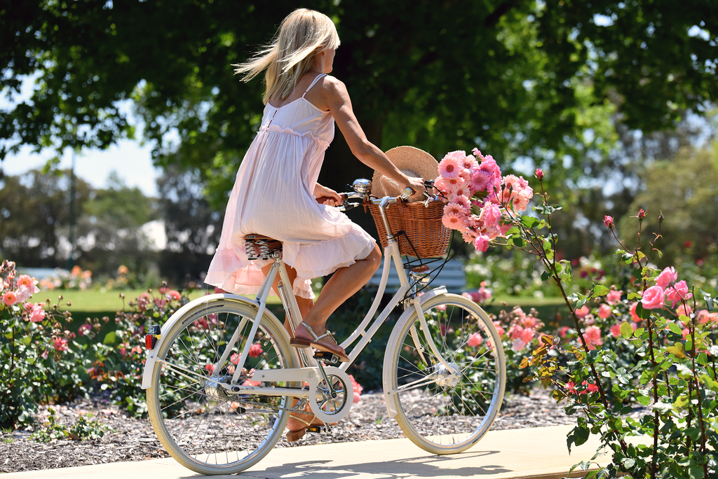 Wear anywhere luxury bicycle and roses image