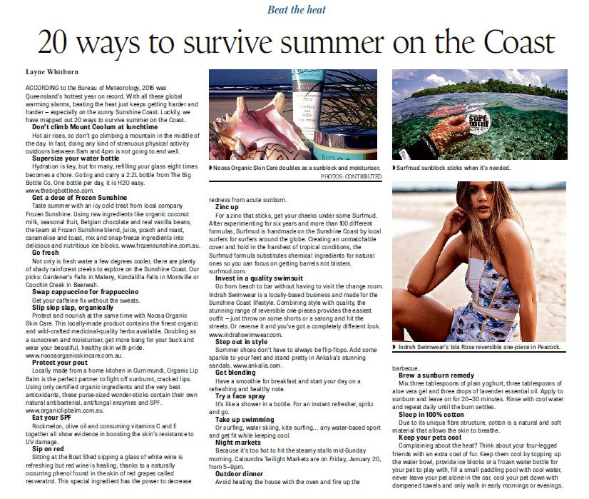 FEATURED IN: THE SUNSHINE COAST DAILY