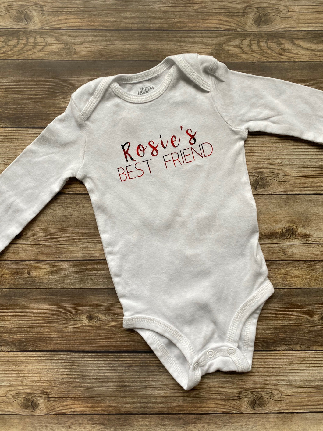 Baby Onesie: Custom Dog's BFF