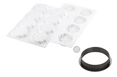 KIT TARTE RING HONORE ø80 MM - SET STAMPO IN SILICONE + 8 ANELLI