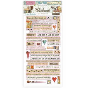 DFLCB24 Chipboard 15 x 30 Atelier des Arts Quotes