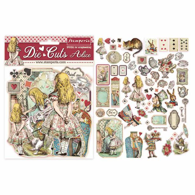 DFLDC07 Die Cuts Alice 62  Pieces