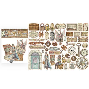 Wooden Frame, Greyboard, Decorative Chips, Chipboard