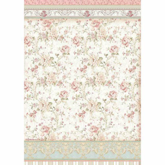 DFSA3065 Rice Paper A3 Roses