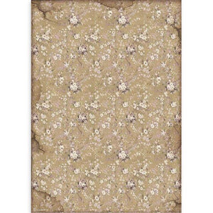 DFSA3083 Rice Paper A3 Lady Vagabond White Flowers