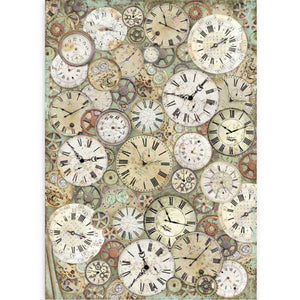 DFSA3084 Rice Paper A3 Lady Vagabond Clock and Mechanisms