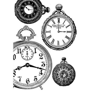 DFSA4127 Rice Paper A4 Black and White Clocks