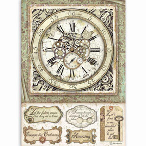 DFSA4519 Rice Paper A4 Lady Vagabond Clock Wth Mechanisms