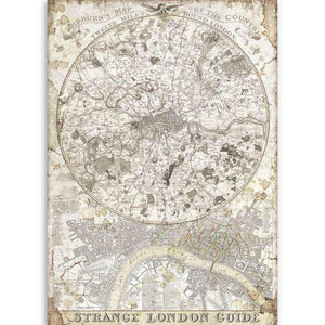 DFSA4522 Rice Paper A4 Lady Vagabond Strange London Guide