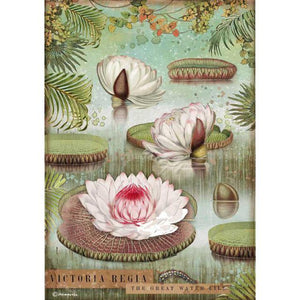 DFSA4529 Rice Paper A4 Amazonia Water Lily