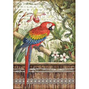 DFSA4531 Rice Paper A4 Amazonia Parrot