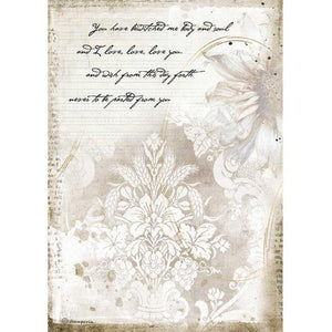 DFSA4554 Rice Paper A4 Romantic Journal Manuscripts