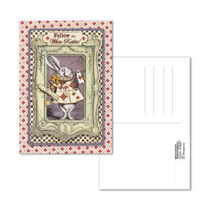 ECARD006 Postcard 10x15 cm White Rabbit