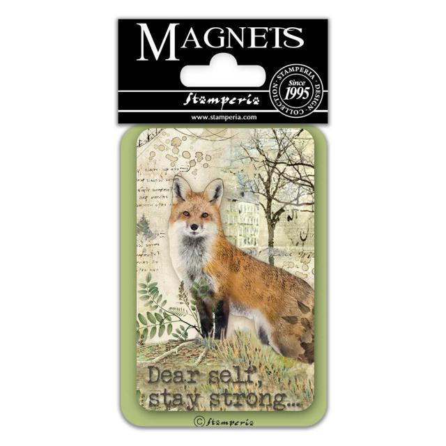 EMAG017 Magnet 8x5.5 cm Forest Fox