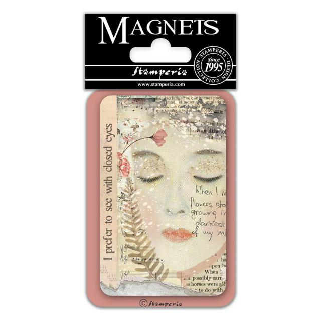 EMAG022 Magnet 8x5.5 cm Closed Eyes