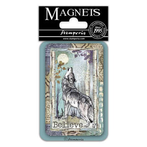 EMAG026 Magnet 8x5.5 cm Cosmos Wolf