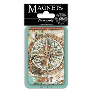 EMAG045 Magnet 8x5.5 cm Sea World Compass