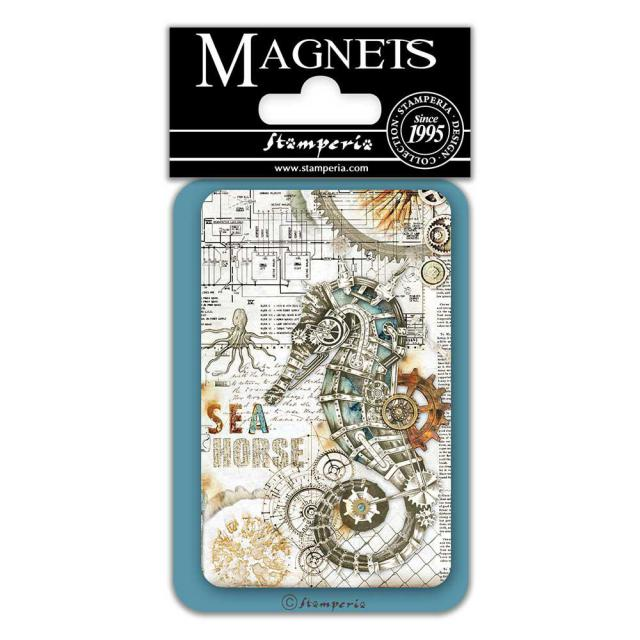 EMAG046 Magnet 8x5.5 cm Sea World Lady