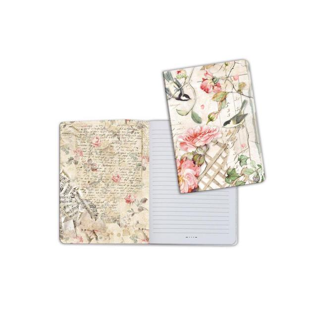 ENBA5017 Notebook A5 Roses And Little Birds